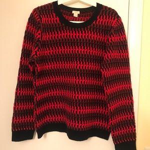 JCrew patterned knit sweater